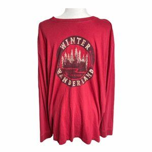 Life is good red red winter wonderland long sleeve